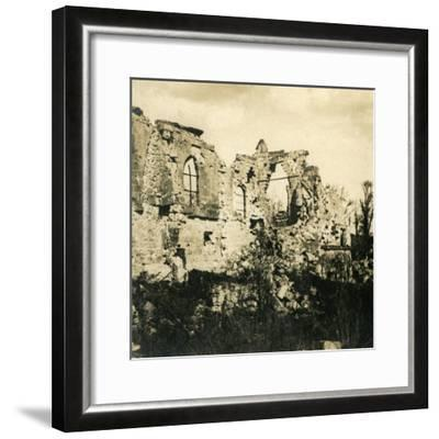 Ruined church at Dreslincourt, northern France, c1914-c1918-Unknown-Framed Photographic Print