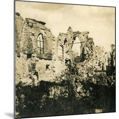 Ruined church at Dreslincourt, northern France, c1914-c1918-Unknown-Mounted Photographic Print