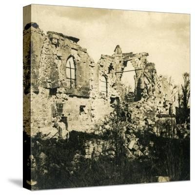 Ruined church at Dreslincourt, northern France, c1914-c1918-Unknown-Stretched Canvas Print