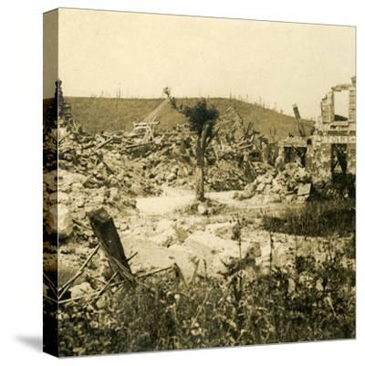 Ruined buildings, Chavignon, northern France, c1914-c1918-Unknown-Stretched Canvas Print