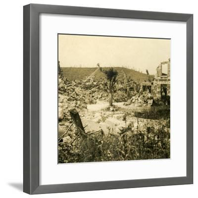 Ruined buildings, Chavignon, northern France, c1914-c1918-Unknown-Framed Photographic Print