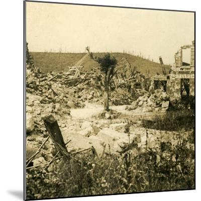 Ruined buildings, Chavignon, northern France, c1914-c1918-Unknown-Mounted Photographic Print