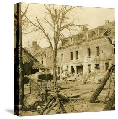 The glassworks at Soissons, northern France, c1914-c1918-Unknown-Stretched Canvas Print