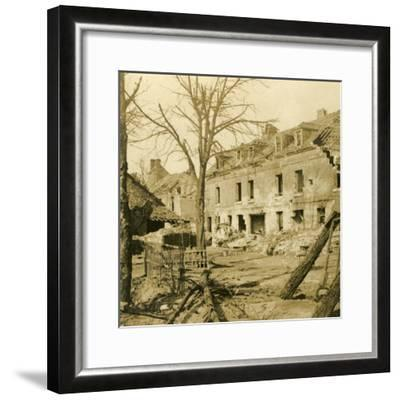 The glassworks at Soissons, northern France, c1914-c1918-Unknown-Framed Photographic Print