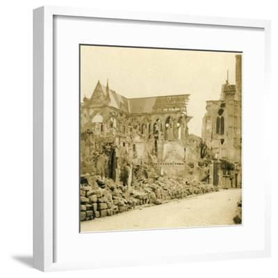 Soissons Cathedral, Soissons, northern France, c1914-c1918-Unknown-Framed Photographic Print