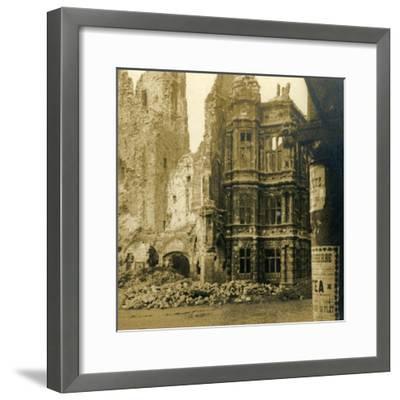 Hôtel de Ville, Arras, northern France, c1914-c1918-Unknown-Framed Photographic Print