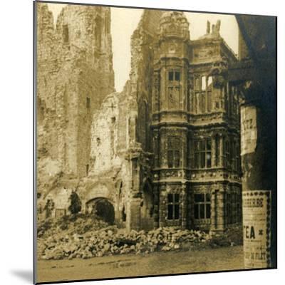 Hôtel de Ville, Arras, northern France, c1914-c1918-Unknown-Mounted Photographic Print