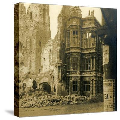 Hôtel de Ville, Arras, northern France, c1914-c1918-Unknown-Stretched Canvas Print