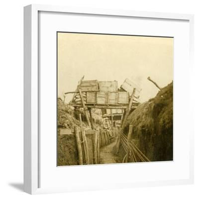 Trenches near Les Éparges, northern France, c1914-c1918-Unknown-Framed Photographic Print
