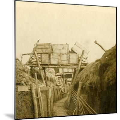 Trenches near Les Éparges, northern France, c1914-c1918-Unknown-Mounted Photographic Print