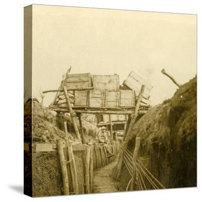 Trenches near Les Éparges, northern France, c1914-c1918-Unknown-Stretched Canvas Print