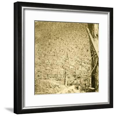 Ravine at Les Éparges, northern France, c1914-c1918-Unknown-Framed Photographic Print