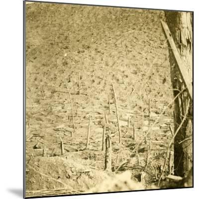 Ravine at Les Éparges, northern France, c1914-c1918-Unknown-Mounted Photographic Print