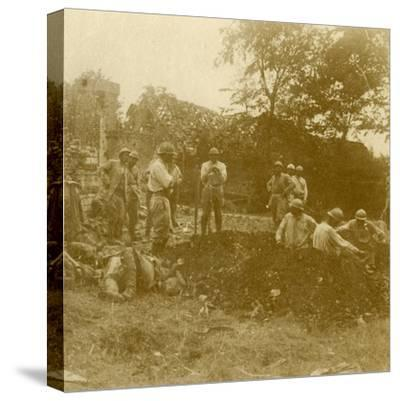 Burying the dead, c1914-c1918-Unknown-Stretched Canvas Print