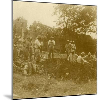 Burying the dead, c1914-c1918-Unknown-Mounted Photographic Print