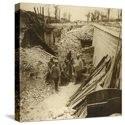 Marceau Barracks, Verdun, northern France, 1916-Unknown-Stretched Canvas Print