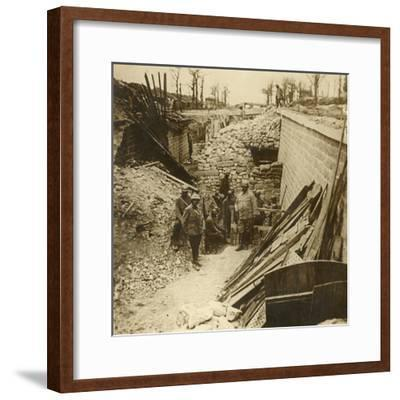 Marceau Barracks, Verdun, northern France, 1916-Unknown-Framed Photographic Print
