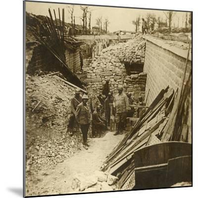 Marceau Barracks, Verdun, northern France, 1916-Unknown-Mounted Photographic Print