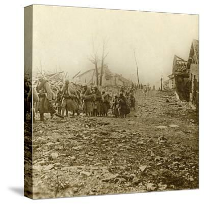 Relief infantry at the attack of Douaumont, northern France, 1916-Unknown-Stretched Canvas Print