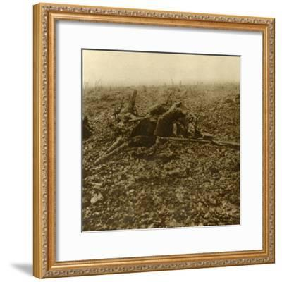Dead soldier on Hill 304, after the Battle of Verdun, northern France, 1916-Unknown-Framed Photographic Print