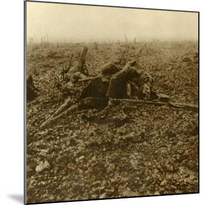Dead soldier on Hill 304, after the Battle of Verdun, northern France, 1916-Unknown-Mounted Photographic Print