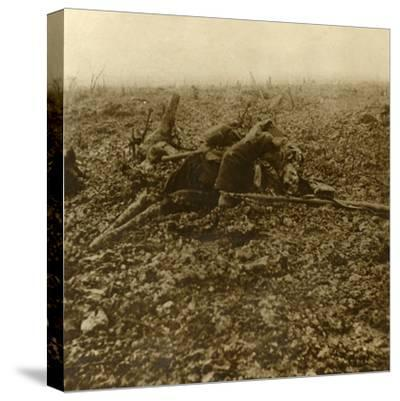 Dead soldier on Hill 304, after the Battle of Verdun, northern France, 1916-Unknown-Stretched Canvas Print