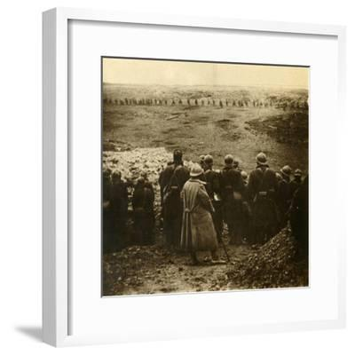 Attack at Douaumont, northern France, December 1916-Unknown-Framed Photographic Print