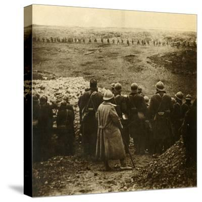 Attack at Douaumont, northern France, December 1916-Unknown-Stretched Canvas Print
