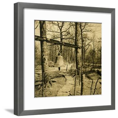 Bell to warn of gas attack, c1914-c1918-Unknown-Framed Photographic Print