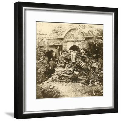 Fort of Souville, Verdun, northern France, c1914-c1918-Unknown-Framed Photographic Print