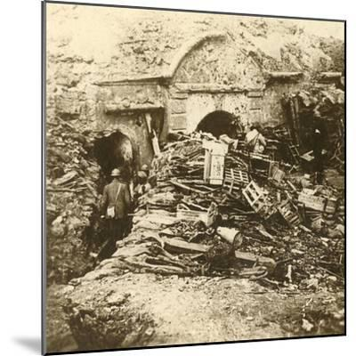 Fort of Souville, Verdun, northern France, c1914-c1918-Unknown-Mounted Photographic Print