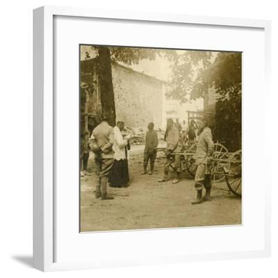 Priest saying mass in the open air, c1914-c1918-Unknown-Framed Photographic Print