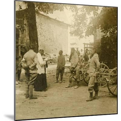 Priest saying mass in the open air, c1914-c1918-Unknown-Mounted Photographic Print