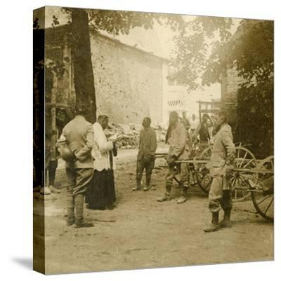 Priest saying mass in the open air, c1914-c1918-Unknown-Stretched Canvas Print