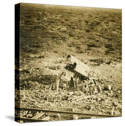 Abandoned 155 gun, c1914-c1918-Unknown-Stretched Canvas Print