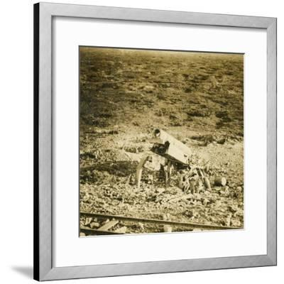 Abandoned 155 gun, c1914-c1918-Unknown-Framed Photographic Print
