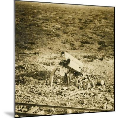 Abandoned 155 gun, c1914-c1918-Unknown-Mounted Photographic Print
