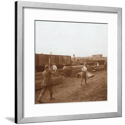 Prisoners, Genicourt, northern France, c1914-c1918-Unknown-Framed Photographic Print