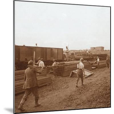 Prisoners, Genicourt, northern France, c1914-c1918-Unknown-Mounted Photographic Print