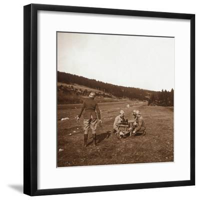 Communications, Genicourt, northern France, c1914-c1918-Unknown-Framed Photographic Print