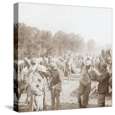 Rest stop, Genicourt, northern France, c1914-c1918-Unknown-Stretched Canvas Print