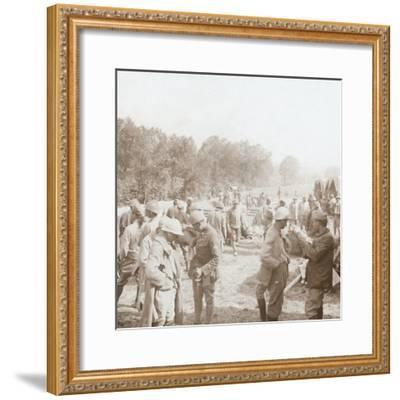 Rest stop, Genicourt, northern France, c1914-c1918-Unknown-Framed Photographic Print