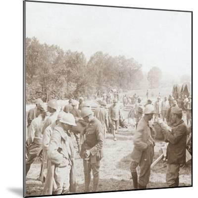 Rest stop, Genicourt, northern France, c1914-c1918-Unknown-Mounted Photographic Print