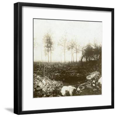 Battlefield, Roeselare, Flanders, Belgium, c1914-c1918-Unknown-Framed Photographic Print