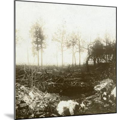 Battlefield, Roeselare, Flanders, Belgium, c1914-c1918-Unknown-Mounted Photographic Print