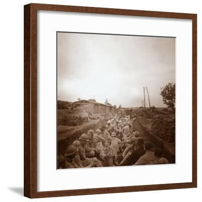 Troops in open train carriages, Genicourt, northern France, c1914-c1918-Unknown-Framed Photographic Print