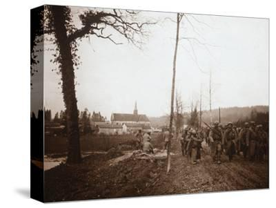 Infantry, Genicourt, northern France, c1914-c1918-Unknown-Stretched Canvas Print