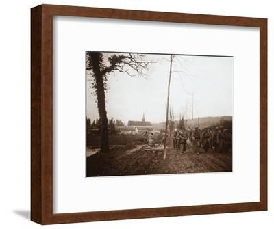 Infantry, Genicourt, northern France, c1914-c1918-Unknown-Framed Photographic Print