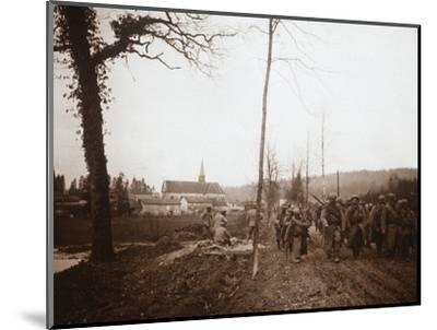 Infantry, Genicourt, northern France, c1914-c1918-Unknown-Mounted Photographic Print