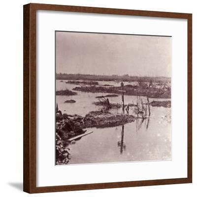 Flooding, Flanders, Belgium, c1914-c1918-Unknown-Framed Photographic Print